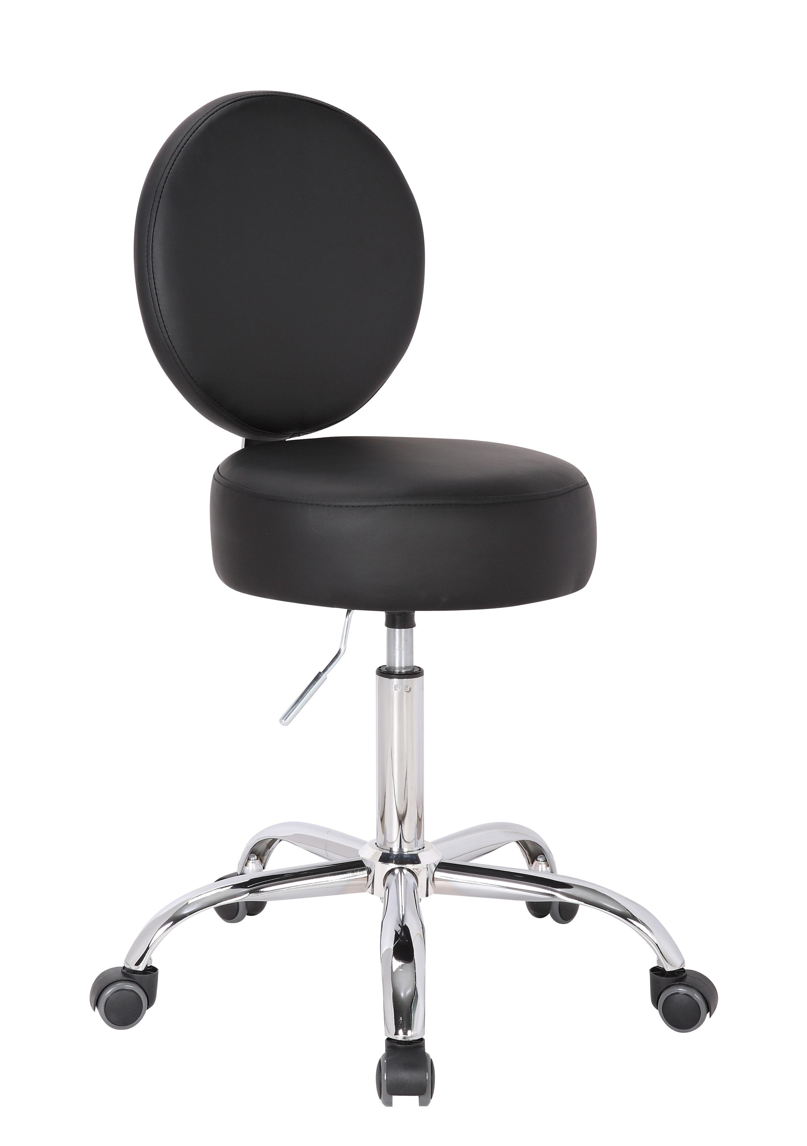 stuhlwelt24 sitzm bel von 1stuff profi rollhocker big squash mit lehne sitzh he 54 71cm. Black Bedroom Furniture Sets. Home Design Ideas